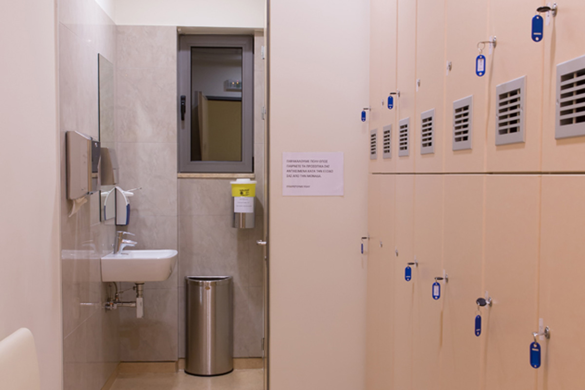 Changing rooms for patients