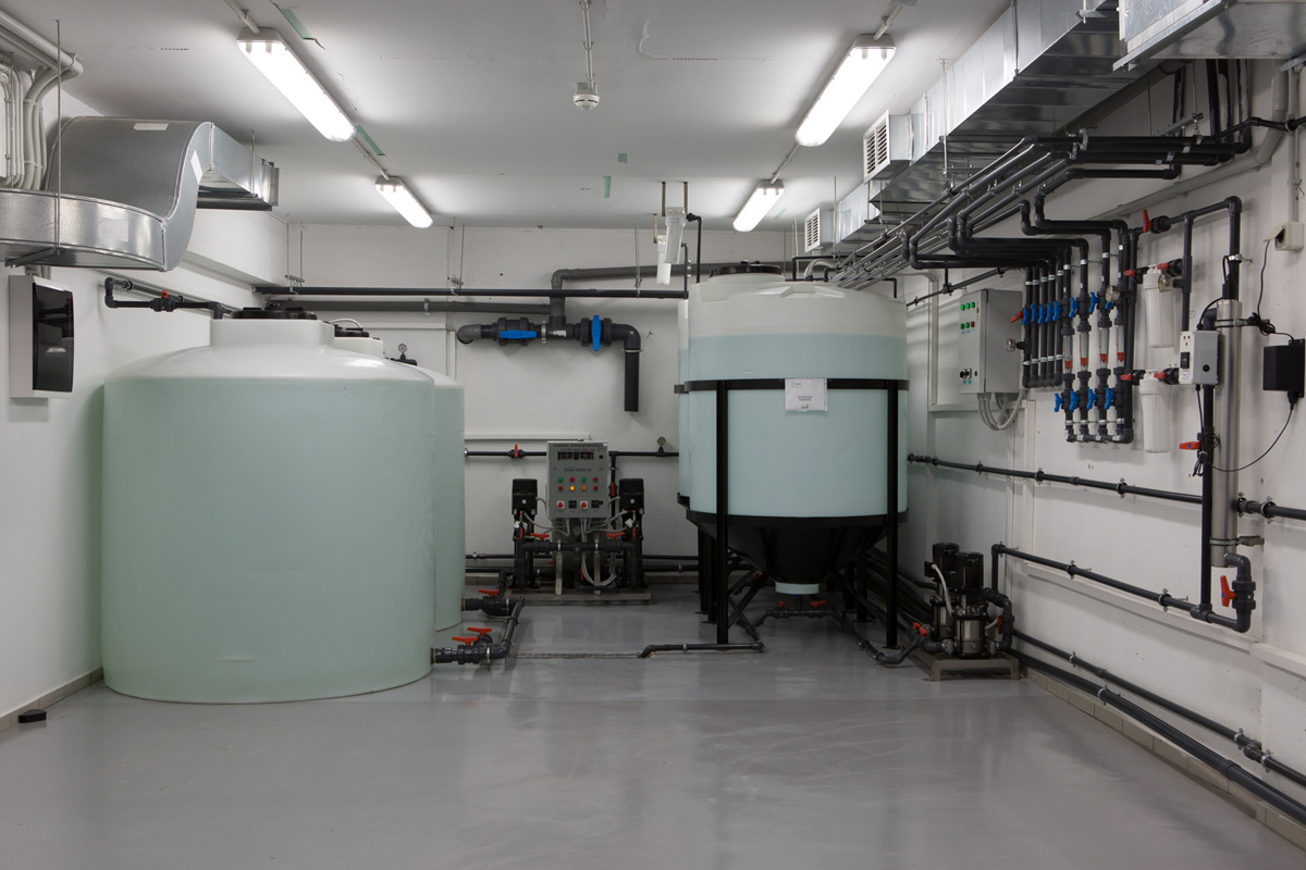 Water processing engine room Dual - Reverse osmosis